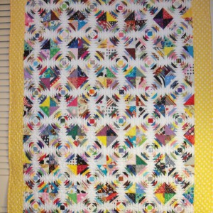Strips and Strings Pineapple Quilt