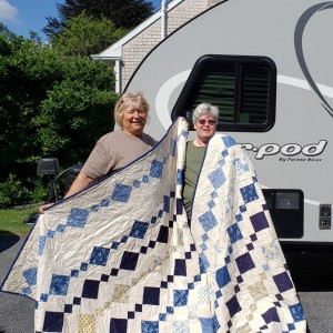 Two Chandelier pattern quilts