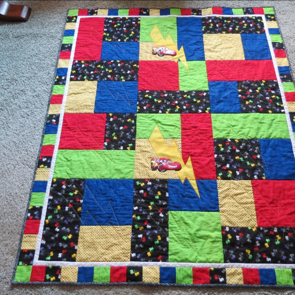 Toddler car quilt