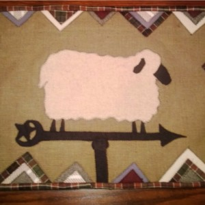 Wooly Weathervane Wall Hanging
