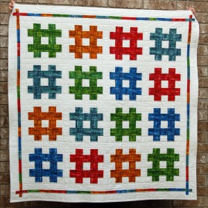 Painted Hashtag Quilt