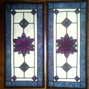 Stain Glass Runners and Wallhangings