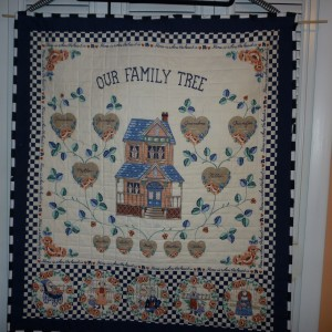 Family Tree Wall hanging or lap quilt