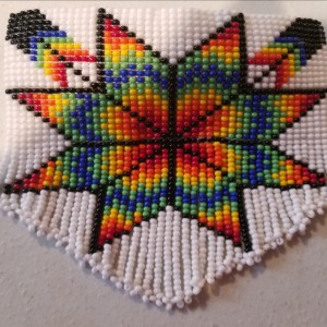 Quilt Inspired Beaded Barrette