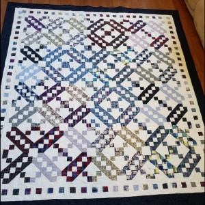 Jacob's Ladder Memory quilt (queen sized)