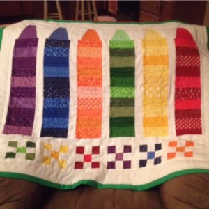 Crayon Baby Quilt