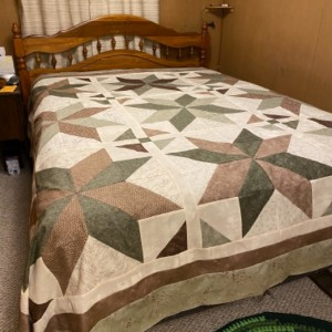 """The Big Star Quilt"" MSQC - wedding gift -K"