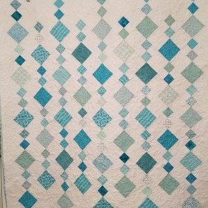 Aqua on-point baby quilt