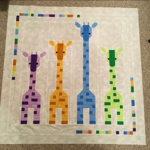 Giraffes in a Row baby quilt