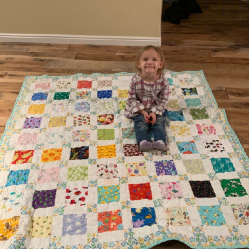 I spy Christmas quilt for Elena