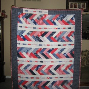 RWB Jelly Roll quilt