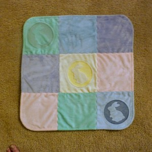 Pet the Bunny Toddler Quilt