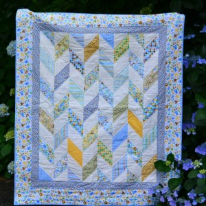 Baby Quilt in Herringbone