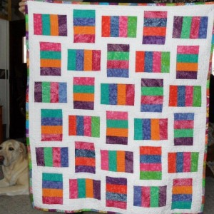 Coin quilt with a little pizzazz