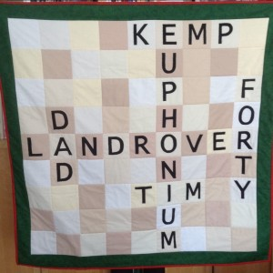 40th birthday scrabble quilt