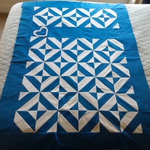 Blue and white quilt. / SOLD April 2020