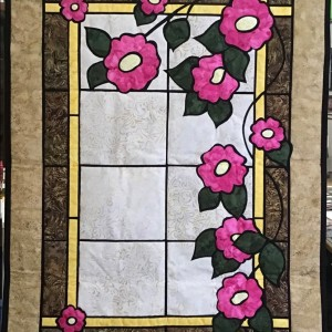 Stained Glass Wild Roses