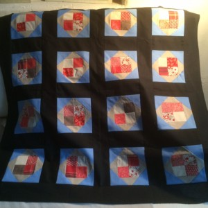 Exploding blocks - My first quilt.