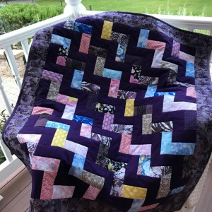 Pretty in Purple Lap Quilt