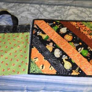 Halloween bag and placemat for 2 grandchildren