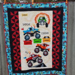 Monster Truck Quilt for Lukas