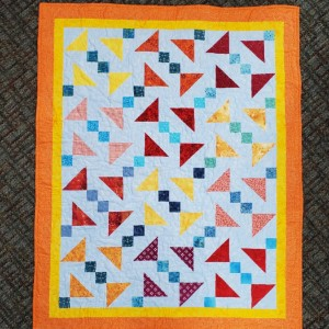 Disappearing shoo-fly patio quilt