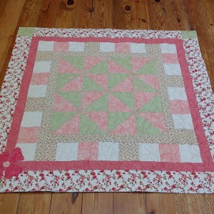 Lovely floral quilt