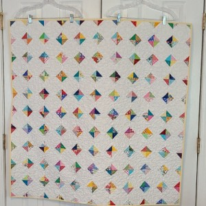 Scrappy Snowball Quilt