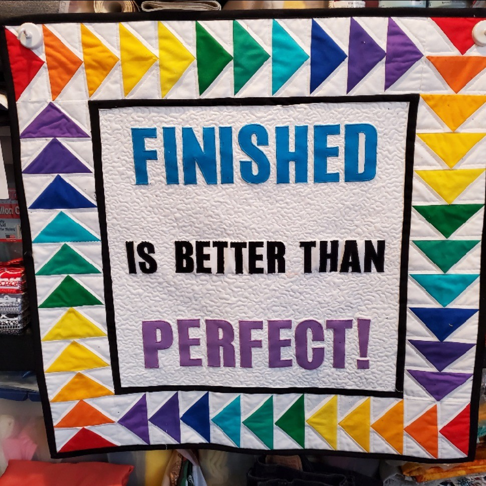 Finished is better than Perfect
