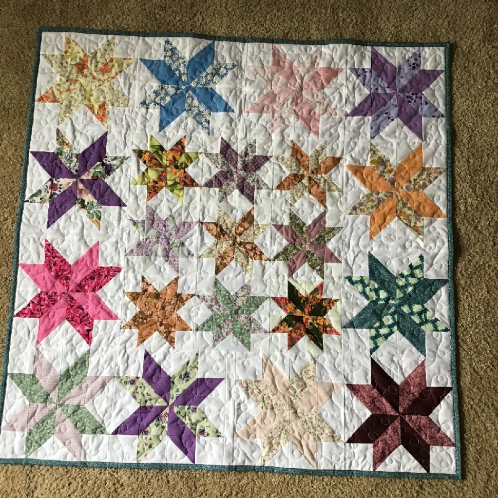 Lemon Star Stash Quilt 2