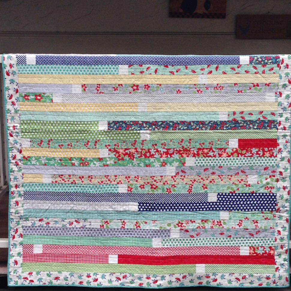 Jelly roll race 2 quilt