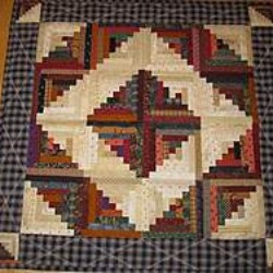 Log Cabin Table Topper