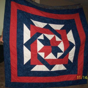 Red, white and blue - Our Daughters Quilt