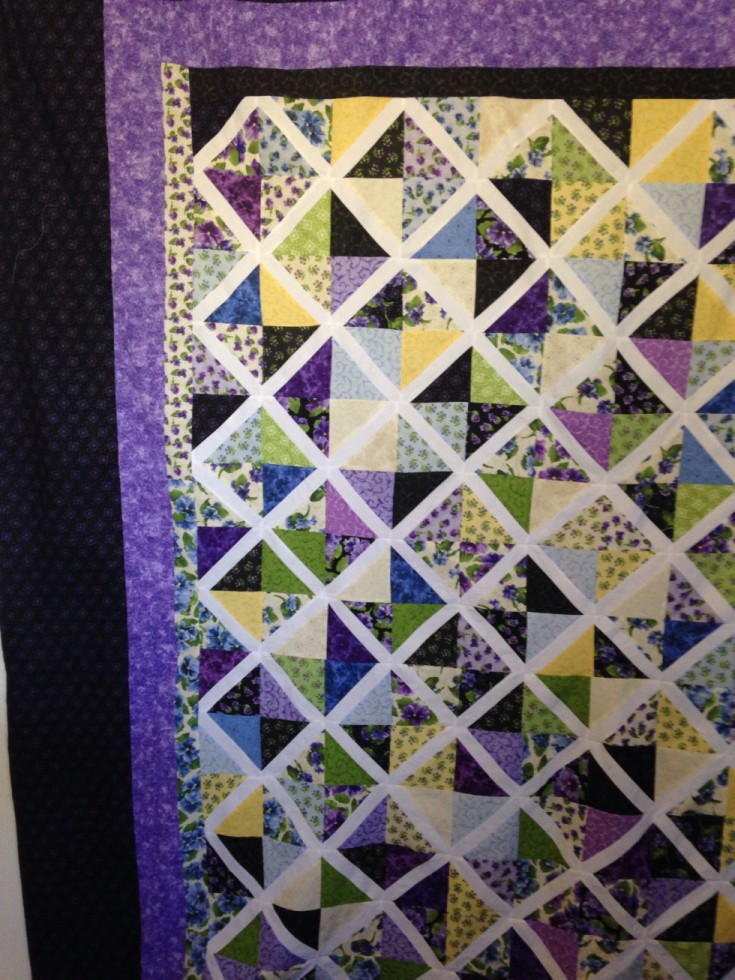 My first Lattice quilt