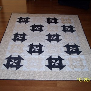 Patty's Disappearing Pinwheel Churn Dash Quilt