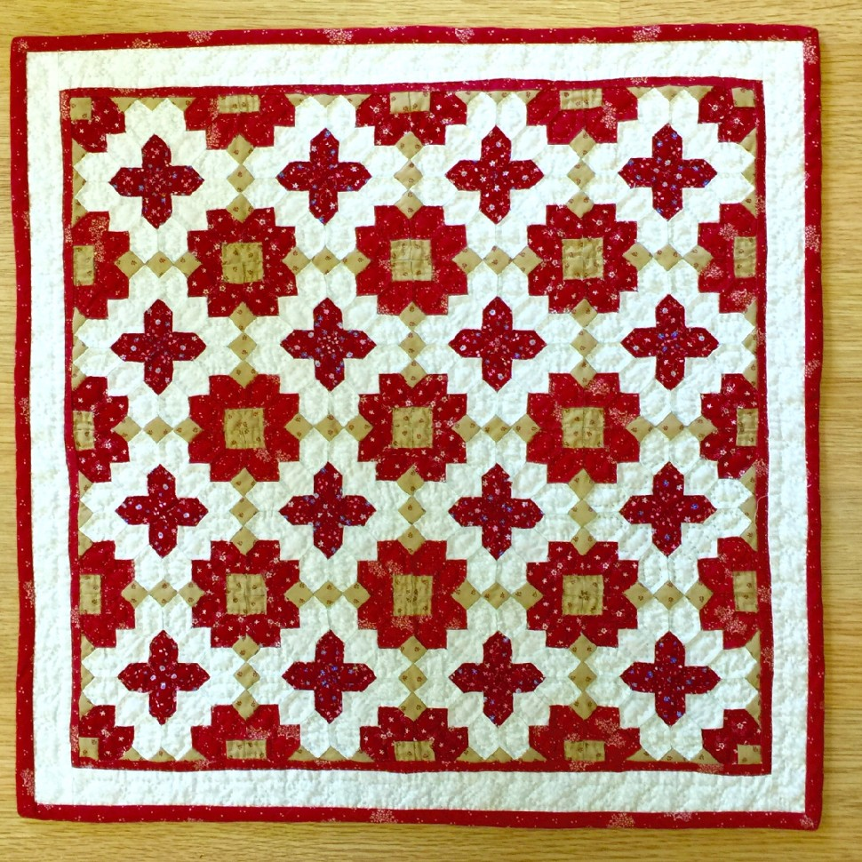 Patchwork of the Crosses in Red and White