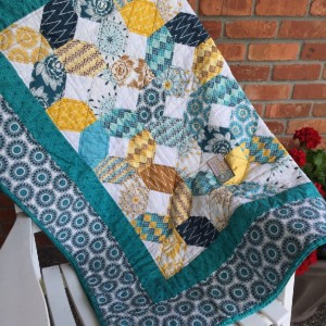 Aqua Gold Napping Quilt