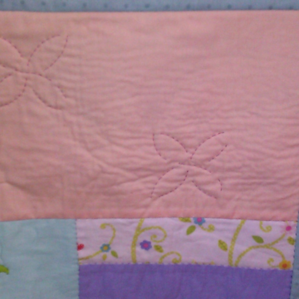 Baby girl quilt 2014