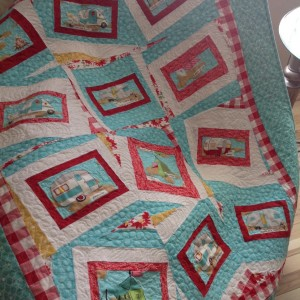 Glamping by the Fire lap quilt