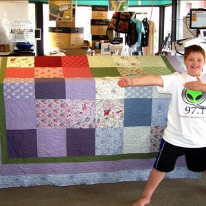 Patrick's First Quilt