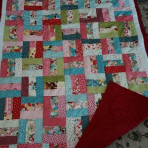 Sister shared quilt