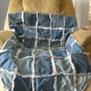 denium wheelchair rag quilt
