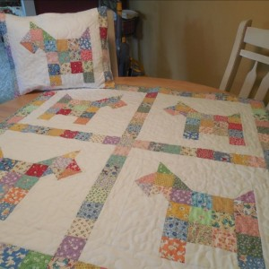 Patchwork Pups Baby Quilt and Sham