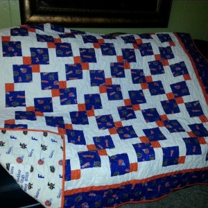 Disappearing 9 Patch - Gator quilt
