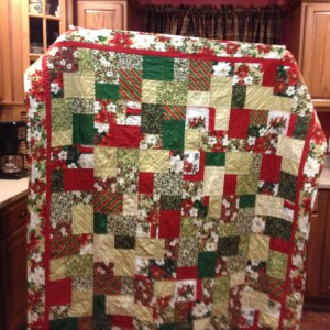 Double Slice Layer Cake Christmas Quilt