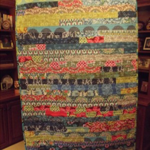 Modified Jelly Roll Race Quilt