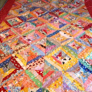 Vintage Repro String Quilt