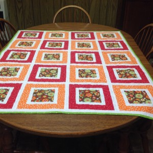 Square in a square lap quilt
