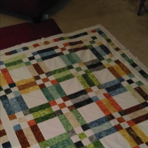 Fence Rail & Nine Patch Quilt