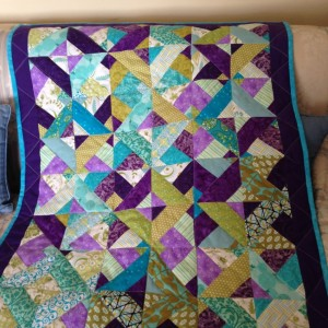 Scrapy Horizontal Vertical Block Quilt